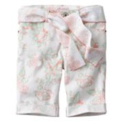 Candie's Floral Belted Denim Bermuda Shorts - Girls 7-16