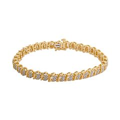 18k Gold Over Silver 2-ct. T.W. Diamond Bracelet