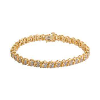 18k Gold Over Silver 2-ct. T.W. Diamond Bracelet