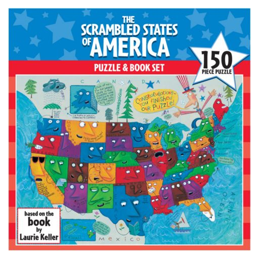 Scrambled States of America Puzzle and Book Set by Gamewright