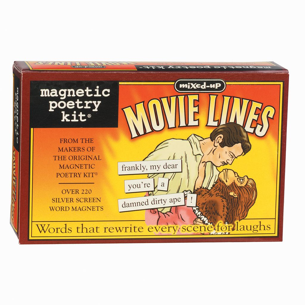 Mixed-Up Movie Lines Magnetic Poetry Kit