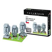 nanoblock Sites to See Moai Statues of Easter Island 3D Puzzle