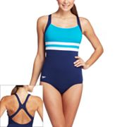 Speedo Endurance+ Colorblock One-Piece Swimsuit