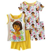 Dora the Explorer Floral Pajama Set - Toddler