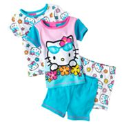 Hello Kitty Flower Pajama Set - Toddler