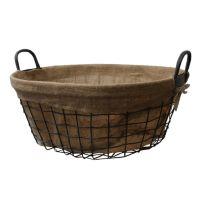 "<span class=""text"">Lukasian House Oval Metal Storage Basket - Medium</span>"
