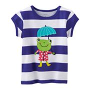 Carter's Striped Frog Tee - Baby