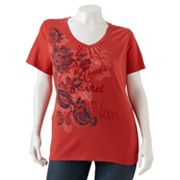 SONOMA life + style Paisley Shirred Tee - Women's Plus