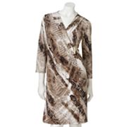 Dana Buchman Snakeskin Faux-Wrap Dress
