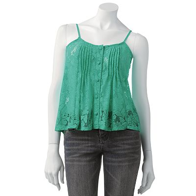 Candie's Crop Lace Camisole - Juniors