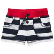 Carter's Striped French Terry Shorts - Baby