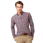 Arrow Plaid Seersucker Casual Button-Down Shirt