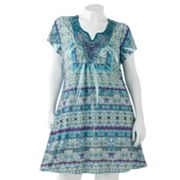Apt. 9 Floral Embellished Sublimation Shift Dress - Women's Plus