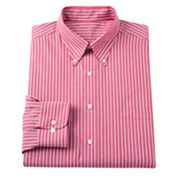 Chaps Classic-Fit Striped Button-Down Dress Shirt