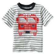 Carter's Slubbed Striped Fire Truck Tee - Boys 4-7