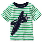 Carter's Slubbed Striped Airplane Tee - Boys 4-7