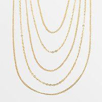 Elegante 18k Gold Over Brass Multistrand Necklace