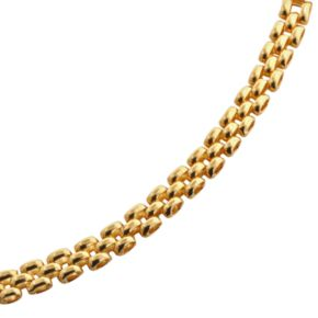 Elegante 18k Gold Over Brass Panther Chain Bracelet - 8-in.