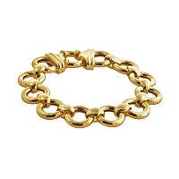 Elegante 18k Gold Over Brass Circle Link Bracelet - 8.5-in.