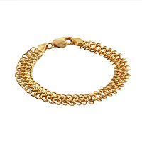 Elegante 18k Gold Over Brass Mesh Chain Bracelet - 7.75-in.