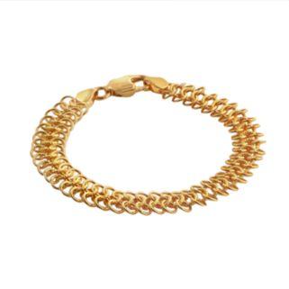 Elegante 18k Gold Over Brass Mesh Chain Bracelet - 7.75-in.