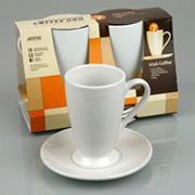Coffee Bar By Konitz 4-pc. Irish Coffee Cup and Saucer Set