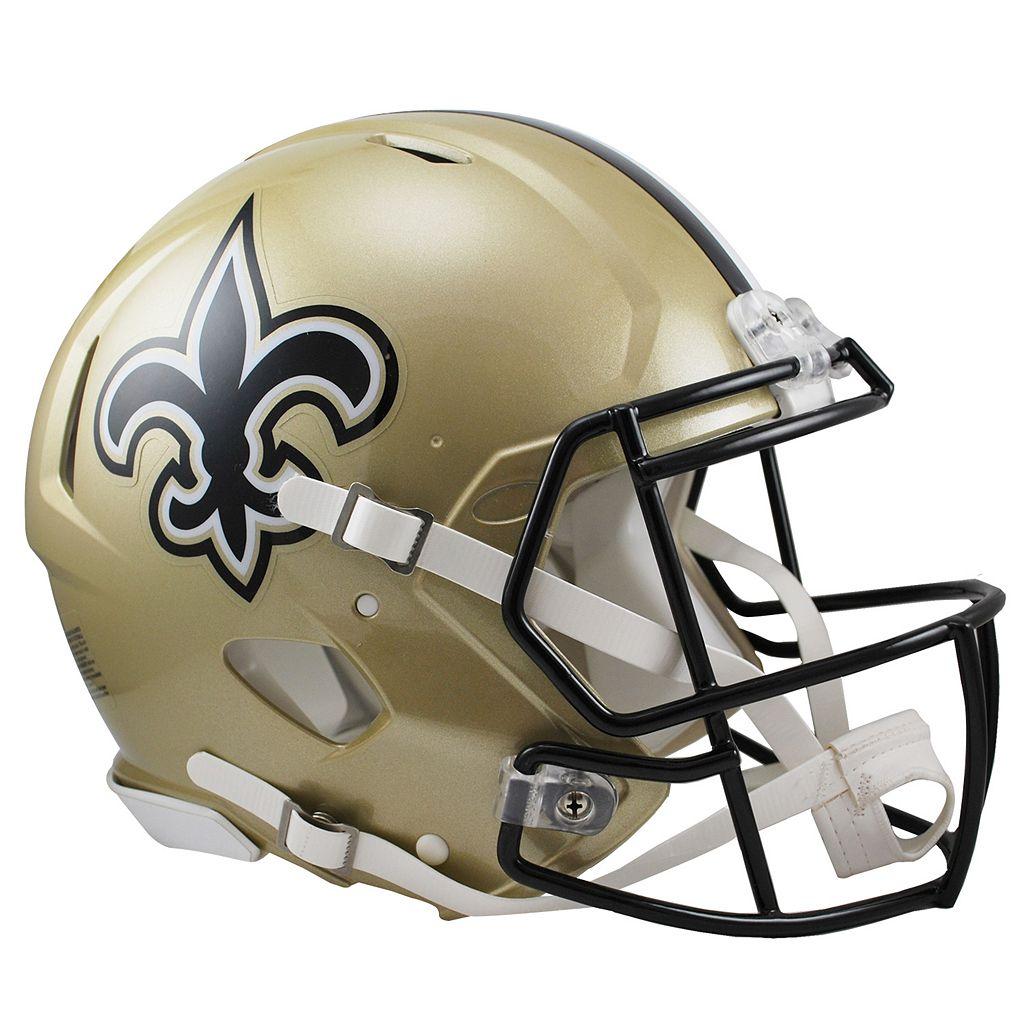 Riddell New Orleans Saints Revolution Speed Authentic Helmet