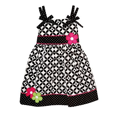 Blueberi Boulevard Patterned Sundress - Toddler