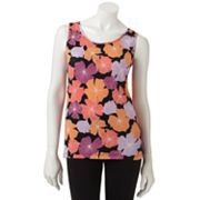 Croft and Barrow Essential Floral Tank