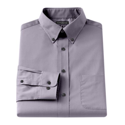 Croft & Barrow® Classic-Fit Solid Broadcloth Button-Down Collar Dress Shirt - Big and Tall