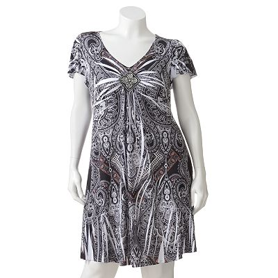 Apt. 9 Medallion Embellished Sublimation Dress - Women's Plus
