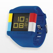 Converse High Score Blue Silicone Digital Chronograph Watch - VR014450 - Women
