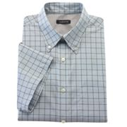 Van Heusen Striped No-Iron Point-Collar Casual Button-Down Shirt