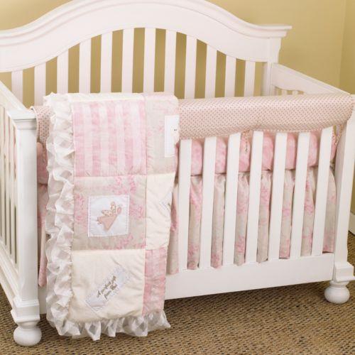 Cotton Tale 4-pc. Heaven Sent Crib Rail Cover Crib Set