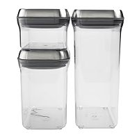 OXO SteeL POP 3 pc Storage Container Set