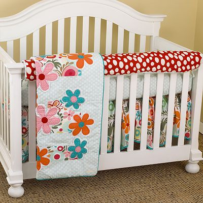 Cotton Tale 4-pc. Lizzie Crib Rail Cover Crib Set