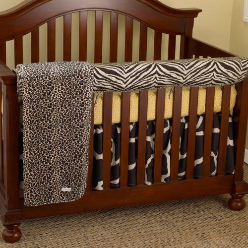 Cotton Tale 4-pc. Sumba Crib Rail Cover Crib Set