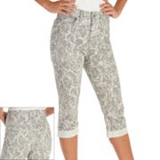 Lee Marilyn Classic Fit Slimming Floral Denim Capris