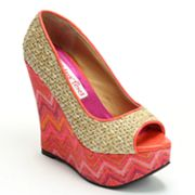 2 Lips Too Too Dizzy Peep-Toe Platform Wedges - Women