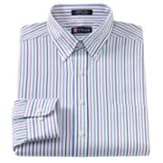 Chaps Classic-Fit Striped Button-Down Collar Dress Shirt