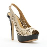 2 Lips Too Too Doily Peep-Toe Platform High Heels - Women