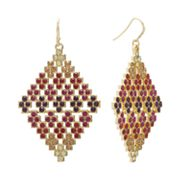 Jennifer Lopez Gold Tone Simulated Crystal Kite Earrings