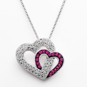 Silver Plated Crystal Heart Pendant