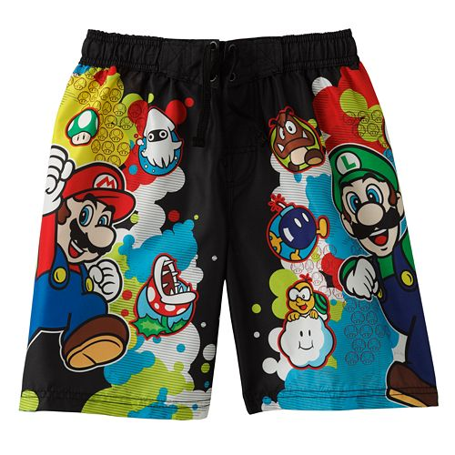 050dca68b7 Nintendo Super Mario Swim Trunks - Boys 4-7