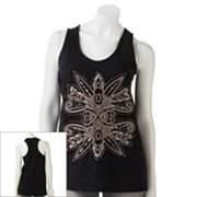 Rock and Republic Embroidered Racerback Tank