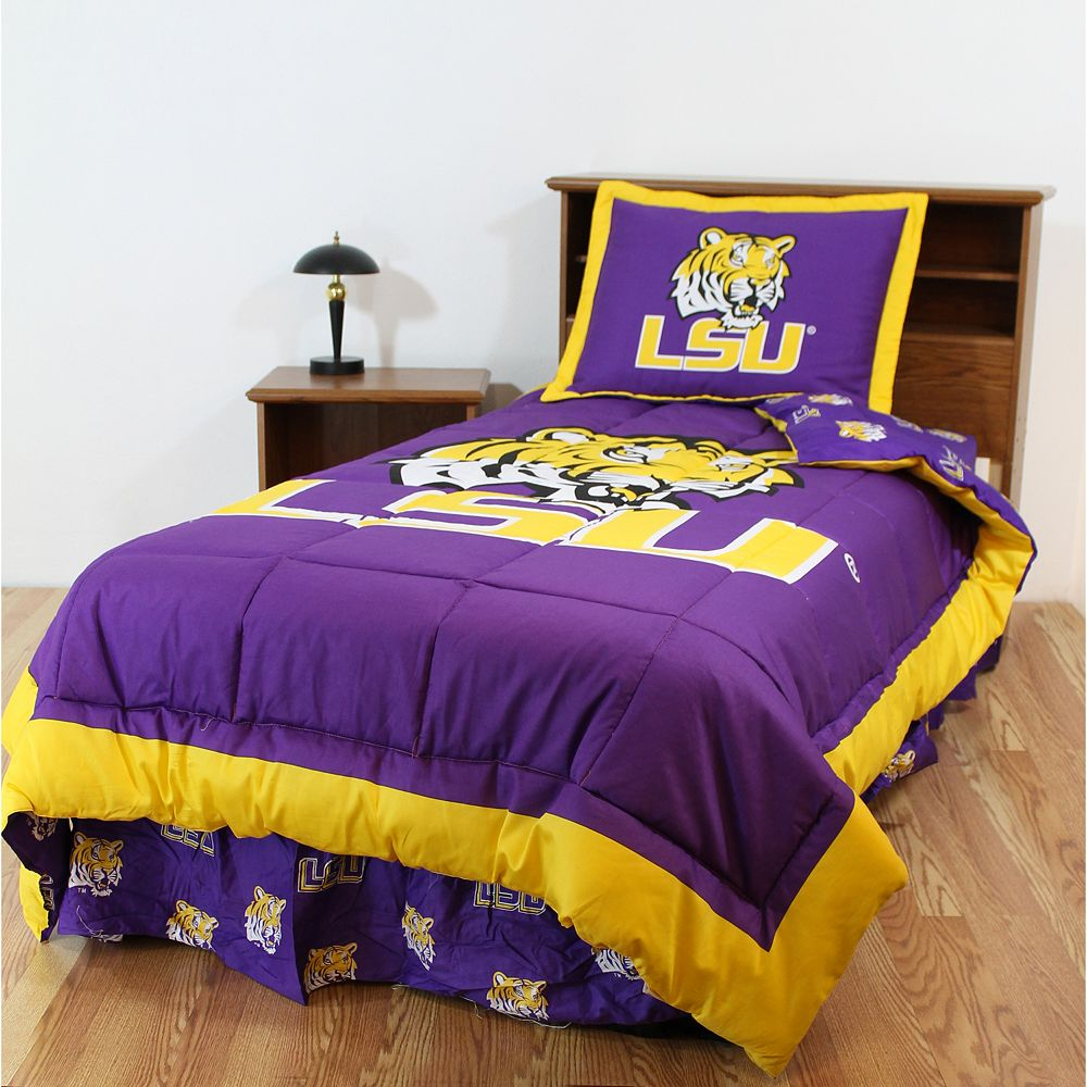 LSU Tigers Bed Set - Twin