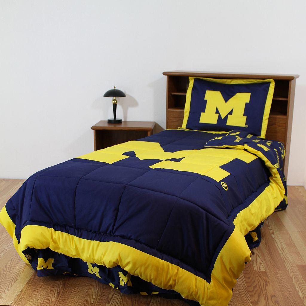 Michigan Wolverines Bed Set - King