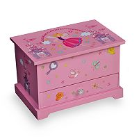 Mele & Co. Wood Musical Ballerina Jewelry Box