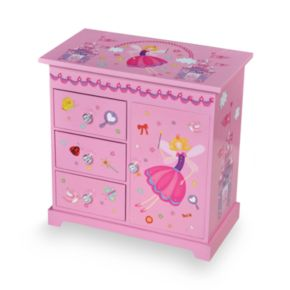 Mele & Co Wood Musical Ballerina Jewelry Box
