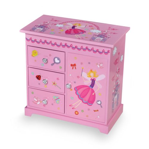 Mele & Co Wood Musical Ballerina Jewelry Box